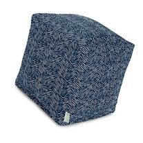 Majestic Home Goods Navajo Cube, Small, Navy