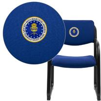 Navy Fabric Executive Side Chair w/Sled Base