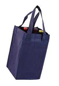 Navy Non-Woven Four-bottle Wine Bag