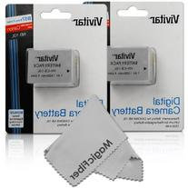 Vivitar NB-10L Ultra High Capacity Batteries for CANON