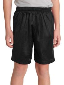 A4 NB5301 Youth Tricot-Lined 6 in. Mesh Shorts - Black,