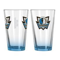 NBA Dallas Mavericks Elite Pint Glass, 16-ounce, 2-Pack