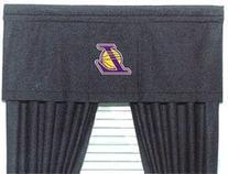 NBA Los Angeles Lakers - Black Denim Drapes/Curtains Set by