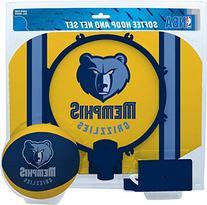 NBA Memphis Grizzlies Slam Dunk Softee Hoop Set, Small, Blue