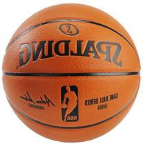 Spalding NBA Replica Indoor/Outdoor Game Ball, Orange, Size