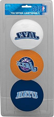 NBA Utah Jazz Kids Softee Basketball , Small, Blue