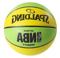 Spalding NBA Varsity Neon Outdoor Basketball - Green/Yellow