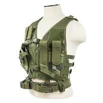VISM by NcSTAR CTVC2916WC Tactical Vest, Small, Woodland