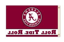 "NCAA Alabama Crimson Tide 3-by-5 Foot ""Roll Tide"" Flag With"