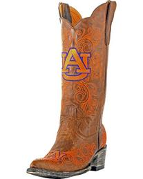 NCAA Auburn Tigers Women's 13-Inch Gameday Boots, Brass, 10