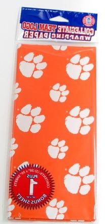 NCAA Clemson Tigers Wrapping Paper