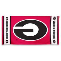 NCAA Georgia Bulldogs Fiber Reactive Beach Towel