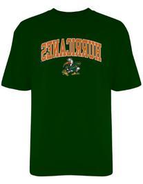 NCAA Miami Hurricanes Gildan T-Shirt, XX-Large, Forest Green