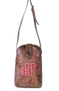 NCAA Houston Cougars Women's Cross Body Purse, Brass, One