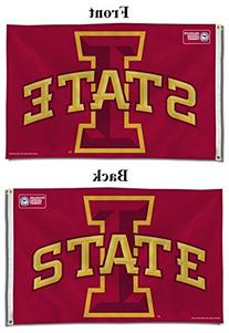 NCAA Iowa State Cyclones Banner Flag, 3 x 5-Feet, Red