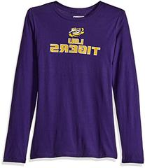 NCAA LSU Tigers Women's Momentous Long Sleeve Crew Neck T-