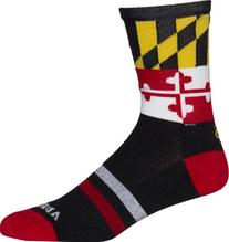NCAA Maryland Terrapins Cycling/Running Socks, Black, Small/