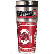 NCAA Ohio State Buckeyes Metallic Travel Tumbler,  16-Ounce