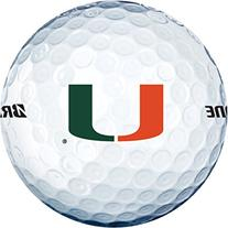 NCAA Miami Hurricanes Logo 2013 e6 Golf Balls