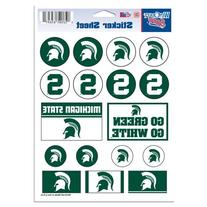 "NCAA Michigan State University Vinyl Sticker Sheet, 5"" x 7"