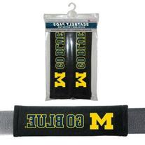 NCAA Michigan Wolverines Velour Seat Belt, One Size, Multi