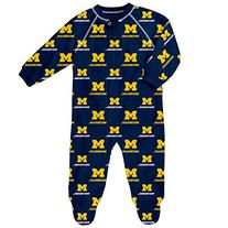 NCAA Michigan Wolverines Raglan Zip Up Coverall, Dark Navy,