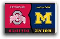 NCAA Michigan - Ohio State 3-by-5 Foot Flag with Grommets -