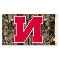 NCAA Nebraska Cornhuskers Flag with Grommets with Realtree