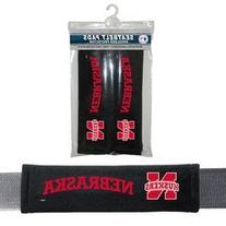 NCAA Nebraska Velour Seat Belt Pads