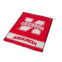 NCAA Nebraska Woven Team Golf Towel