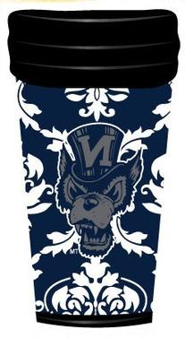 NCAA Nevada Wolf Pack Coffee Tumbler Damask