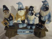 North Carolina Tar Heels Garden Gnome - Fans on Bench