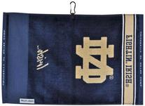 Notre Dame Fighting Irish Face/Club Jacquard Towel