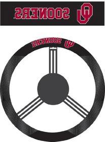 NCAA Oklahoma Sooners Poly-Suede Steering Wheel Cover