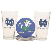 NCAA Pint Glass and Coaster Set