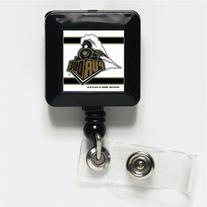NCAA Purdue University Retractable Badge Holder, Black