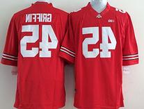 BBQNER Men's NCAA Football Shirt Ohio State Buckeyes NO.45