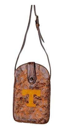 NCAA Tennessee Volunteers Women's Cross Body Purse, Brass,
