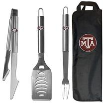 NCAA Texas A&M Aggies Stainless Steel BBQ Tool Set with Bag