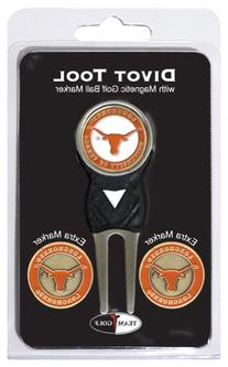 NCAA Texas Longhorns 3 Marker Signature Golf Divot Tool Pack