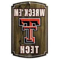 "NCAA Texas Tech University 69922091 Wood Sign, 11"" x 17"","
