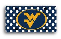 NCAA West Virginia Mountaineers License Plate Dots