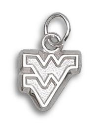 NCAA West Virginia Sterling Silver WV  Charm
