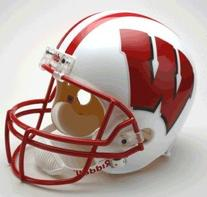 NCAA Wisconsin Badgers Deluxe Replica Football Helmet
