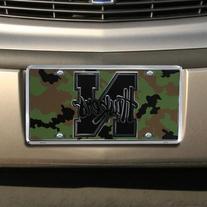 Nebraska Cornhuskers Camo Metal License Plate