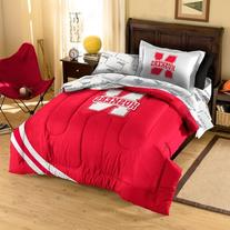 NCAA Nebraska Cornhuskers Twin Bed in a Bag with Applique