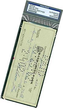 Nelson Nellie Fox Autograph 1962 Check PSA/DNA Signed