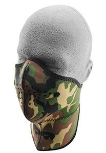 ZANheadgear Neo-X Woodland Face Mask with Removable Filter