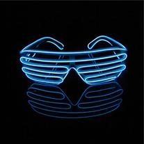 Lerway Neon El Wire LED Light Up Shutter Glasses + Voice