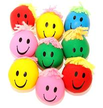 Dazzling Toys Neon Smile Face Squeeze and Stress Balls -